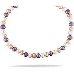Miadora Multi-colored Freshwater Pearl 18-inch Necklace (9-10 mm)