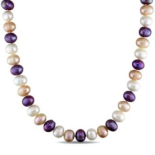 M by Miadora Multi-colored Cultured Freshwater Pearl 18-inch Necklace (9-10 mm)