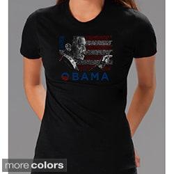 Los Angeles Pop Art Women's Barack Obama Short Sleeve T-Shirt