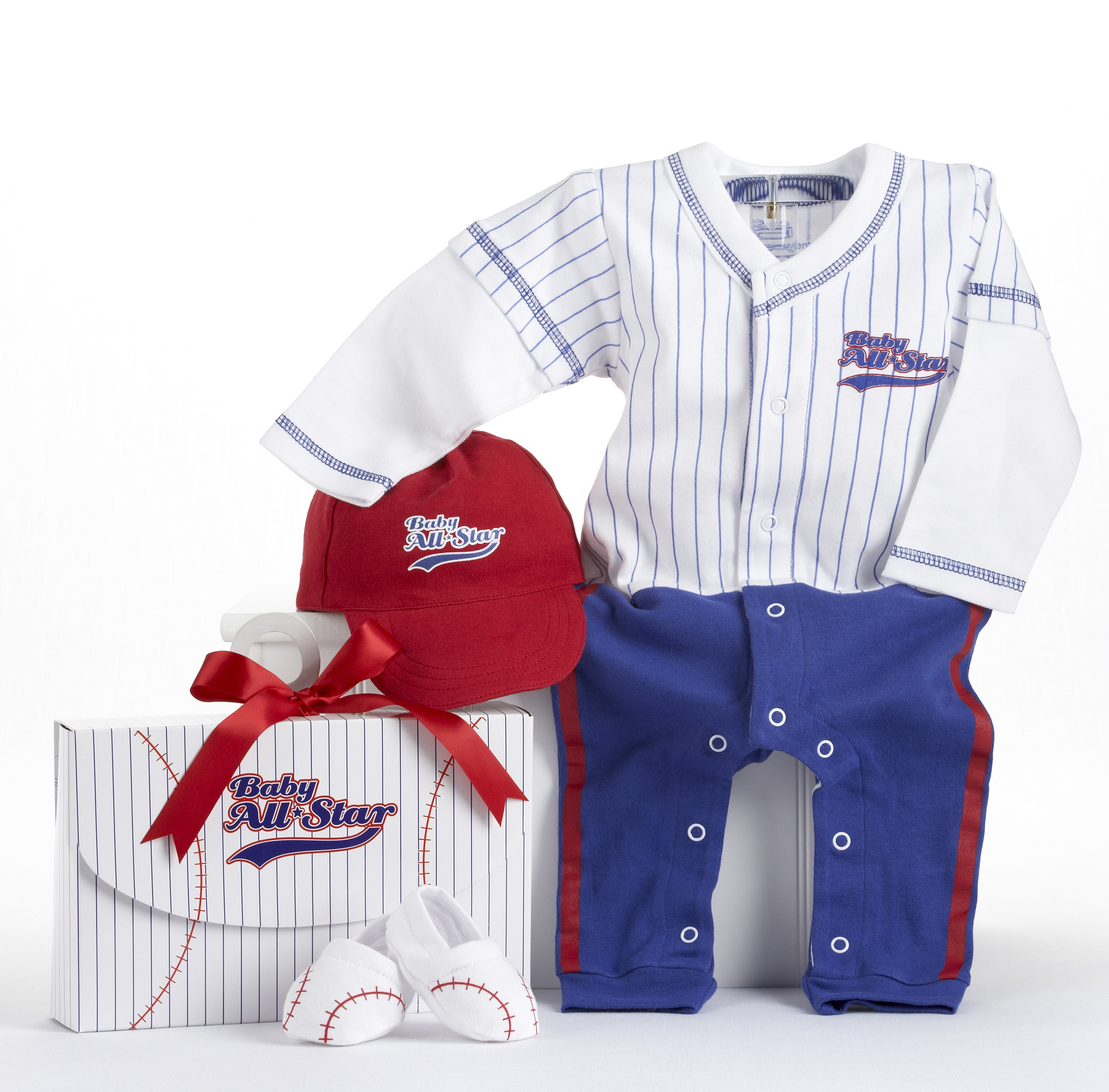 Baby Aspen Big Dreamzzz Baby Baseball 3-piece Layette Set
