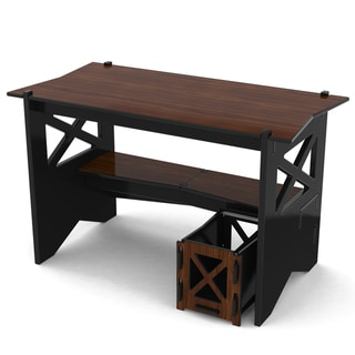 Legare Ebony and Walnut 48 inch Cottage Desk + File