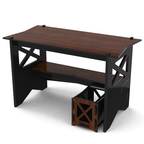 Legare Ebony and Walnut 48 inch Cottage Desk + File