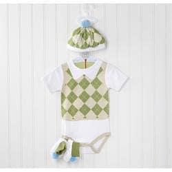 Baby Aspen Sweet Tee 3-piece Golf Layette Set