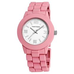 Vernier Women's Simple Beauty Basic Soft Touch Matte Pink Watch