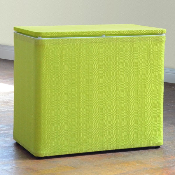 1530 LaMont Brights Lime Green Bench Hamper