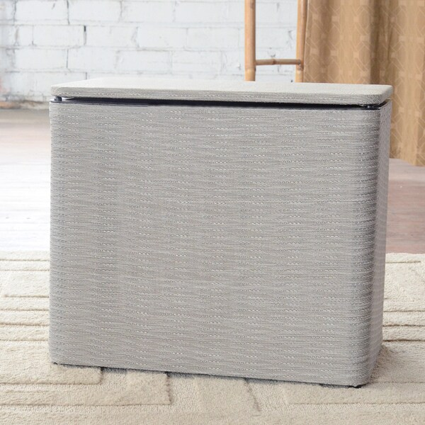 1530 LaMont Home Aiden Taupe Bench Hamper