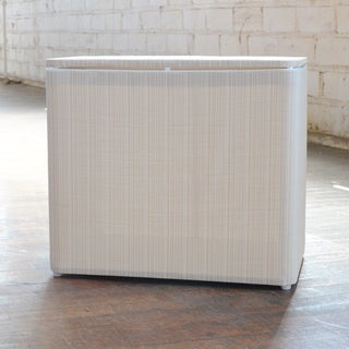 1530 LaMont Home Raine White/ Ivory Bench Hamper