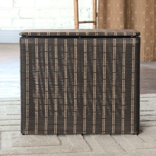 1530 LaMont Home Barton Black/ Brown Bench Hamper