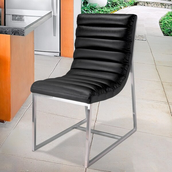 Christopher Knight Home Parisian Black Leather Dining Chair