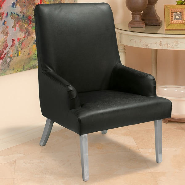 Christopher Knight Home Beluga Black Leather Chair