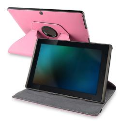 Pink 360 Swivel Leather Case for Asus Eee Pad Transformer