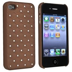 Brown Diamond Gem Rear Snap-on Case for Apple iPhone 4/ 4S
