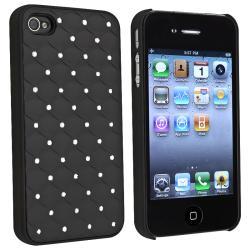 Black Diamond Gem Rear Snap-on Case for Apple iPhone 4/ 4S