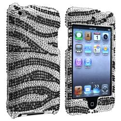 Silver/ Black Zebra Snap-on Case for Apple iPod Touch Generation 4