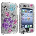 Silver/ Dog Paw Snap-on Case for Apple iPod Touch Generation 2/ 3