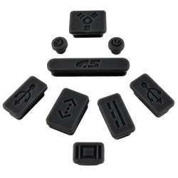 Black Anti-Dust Silicone Plug Cap for Apple MacBook Pro (Set of 9)