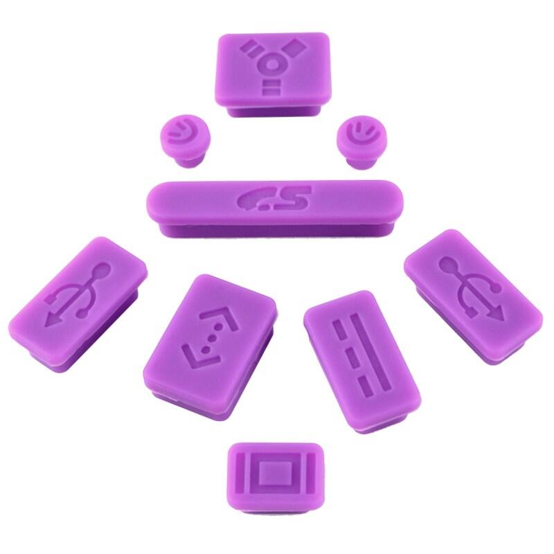 INSTEN Purple Anti-dust Soft Silicone Plug Cap for Apple MacBook Pro (Set of 9)