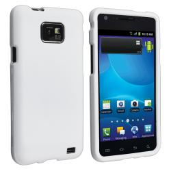 White Snap-on Rubber Coated Case for Samsung Galaxy S II GT-i9100
