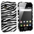 Black/ White Zebra TPU Rubber Skin Case for Samsung Galaxy Ace S5830