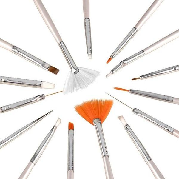 Zodaca Nail Art Design Brush (Set of 15)