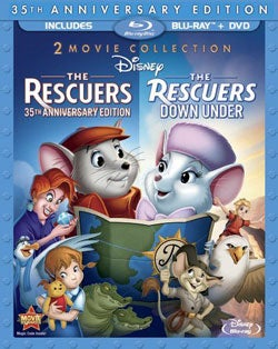 The Rescuers & Rescuers Down Under (35 Anniversary Edition) (Blu-ray/DVD)
