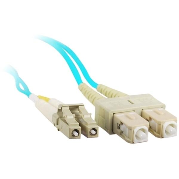 SIIG 1M 10Gb Aqua Multimode 50/125 Duplex Fiber Patch Cable LC/SC