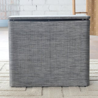 Cambria Black/ Silver Bench Hamper 1530