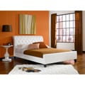 Omnia king size Synthetic Leather tufted Sleigh bed