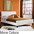 Omnia synthetic leather queen size tufted platform bed