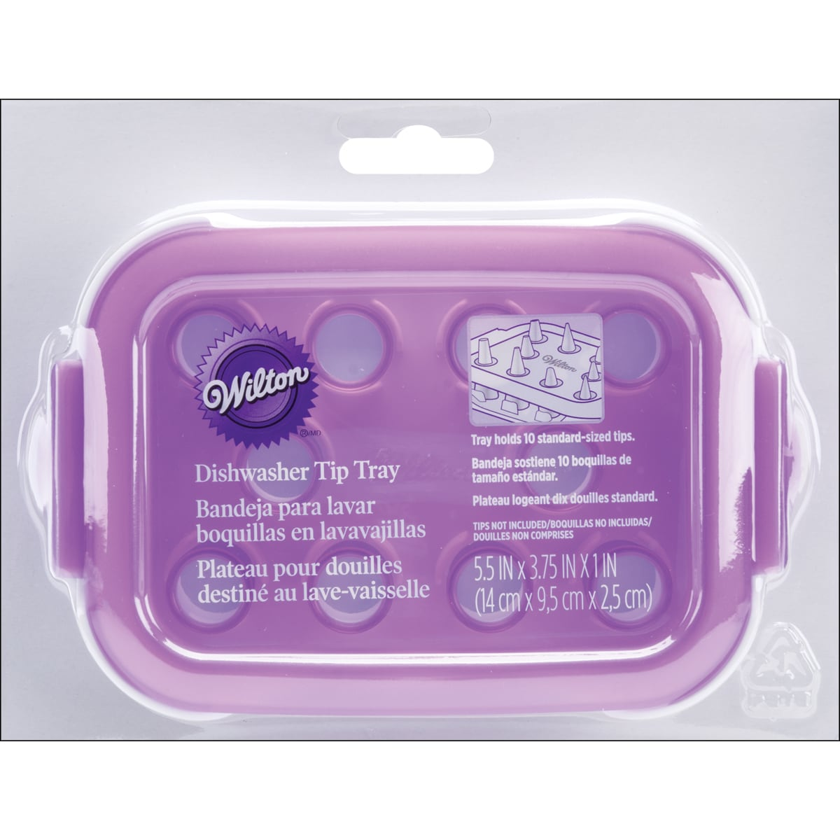 Decorate Smart Dishwasher Tip Cleaning Tray-White/Purple