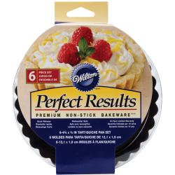 Perfect Results Tart/Quiche Pans 4IN 6/Pkg-Round