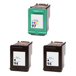 Hewlett Packard 94/97 Black/Color Ink Cartridge (Pack of 3) (Remanufactured)