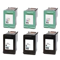Hewlett Packard 95/98 Black/Color Ink Cartridge (Pack of 6) (Remanufactured)