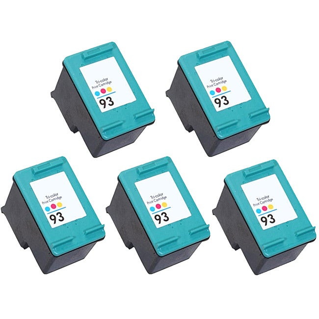 Hewlett Packard 93 Colored Ink Cartridge (Pack of 5 Color) (Remanufactured)