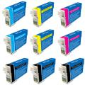 Epson T125100 T125 Black/Color Ink Cartridges (Pack of 9) (Remanufactured)