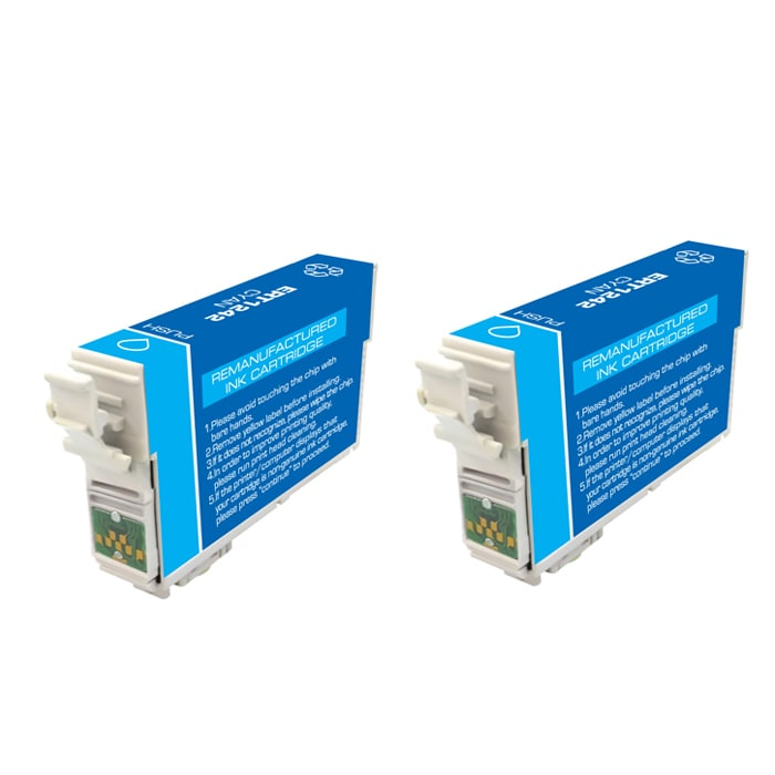 Epson T125200 T125 Cyan Ink Cartridges (Pack of 2) (Remanufactured)