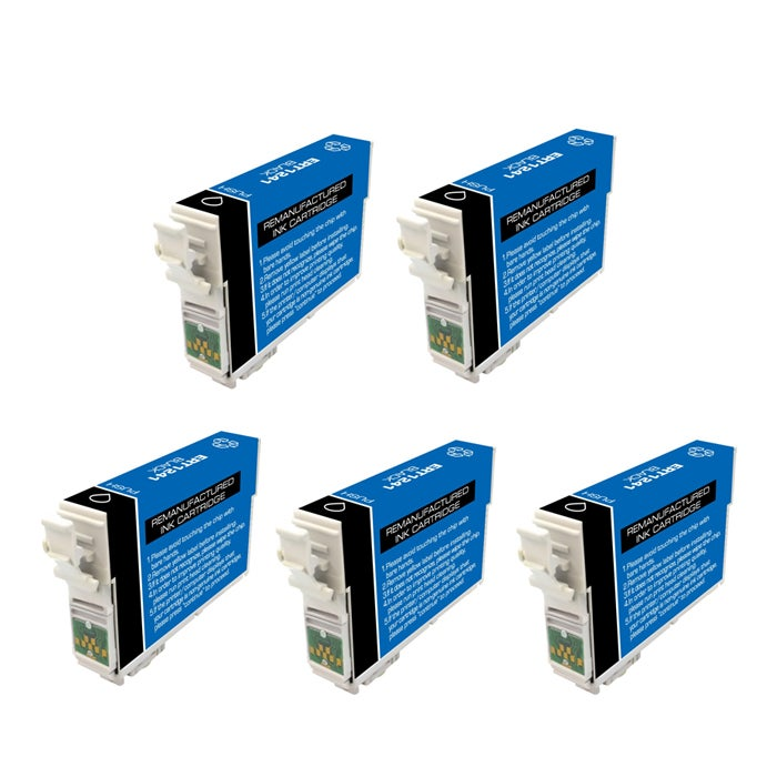 Epson T125100 T125 Black Ink Cartridges (Pack of 5) (Remanufactured)