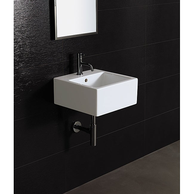 Bissonnet 'ICE-40' White Ceramic Bathroom Sink