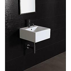 Bissonnet 'ICE-40' White Ceramic Bathroom Sink