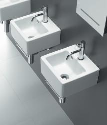 Bissonnet 'ICE-30' White Ceramic Bathroom Sink