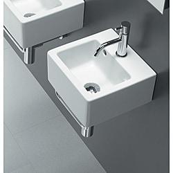 Bissonnet 'ICE-30' White Ceramic Bathroom Sink