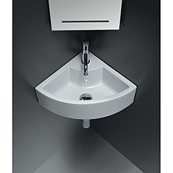 Bissonnet 'ICE' Corner Ceramic Bathroom Sink