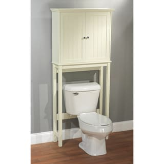 Simple living antique white bathroom cabinet space saver - Space saver furniture for bathroom ...