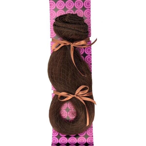 Donna Bella #6 (Dark Chestnut Brown) 16-inch Human Remy Full Head Hair Extensions