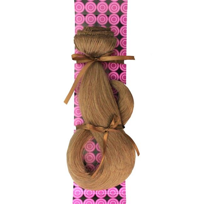 Donna Bella #10 (Medium Ash) 16-inch Human Remy Full Head Hair Extensions