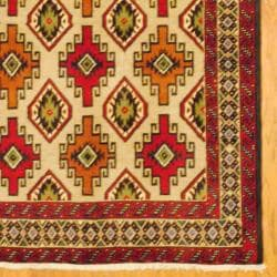 Persian Tribal Balouchi Beige/Red Wool Rug (3'4 x 6'4)