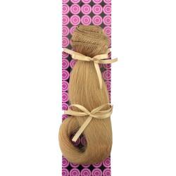 Donna Bella #24 (Light Gold Blonde) 16-inch Human Remy Full Head Hair Extensions