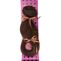 Donna Bella #6 (Dark Chestnut Brown) 20-inch Full Head Human Remy Hair Extensions