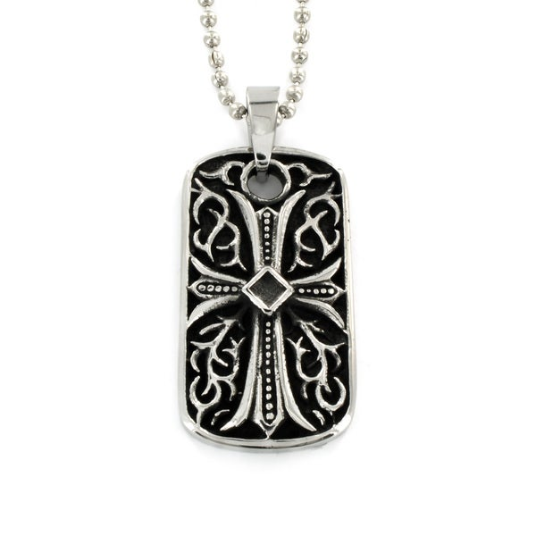 Stainless Steel Cast Gothic Cross Necklace
