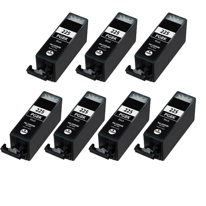 Canon PGI-225BK Compatible Black Ink Cartridge (7 Pack)
